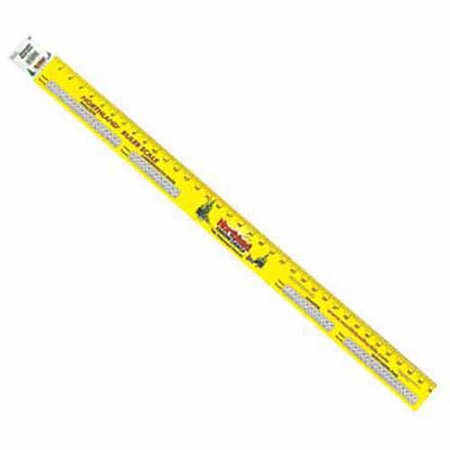 Northland tackle 60 ruler scale sticker yellow for Fish scale walmart