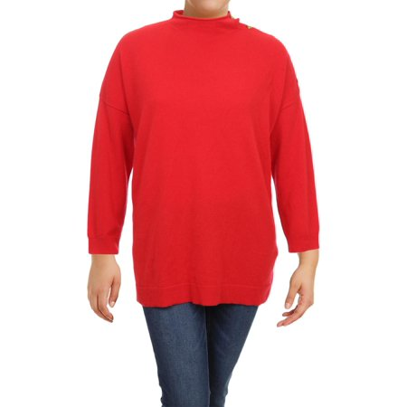bb6a1bc36957b6 Lauren Ralph Lauren Womens Plus LIA Cashmere Mock Turtleneck Sweater -  Walmart.com