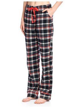 Product Image Ashford   Brooks Women s Super Soft Flannel Plaid Pajama  Sleep Pants - Black Ivory - X 52f3eea94