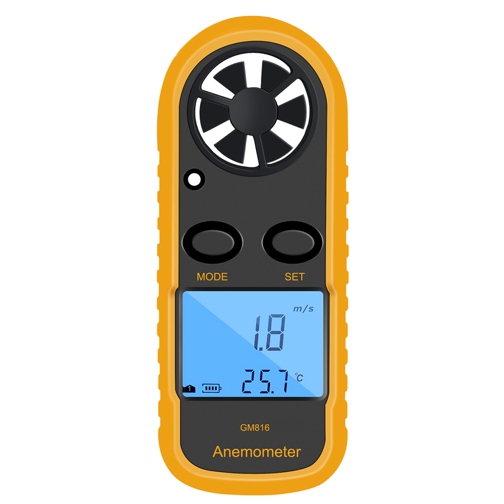 Clearance!BENETECH Digital Anemometer Wind-Speed Gauge Meter LCD Handheld Airflow... by