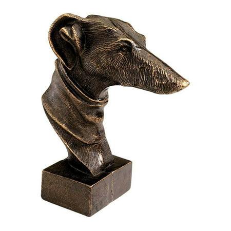 Antique Replica Gentleman'S Dog Desktop Foundry Iron Sculpture - Set Of