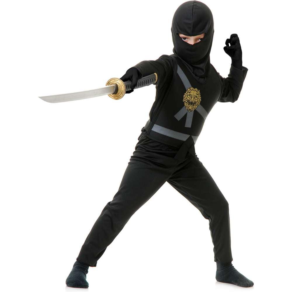 Black Ninja Avenger Kids Costume
