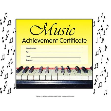 SCHAUM Music Achievement Certificate Educational Piano - 123 Certificate Halloween