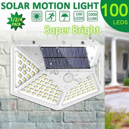 VicTsing 1PCS Solar Lights Outdoor 100 LED Super Bright Motion Sensor Light 270° Wide Angle Wireless Waterproof Security IP65 Wall Lights for Front Door Yard Garage Deck Pathway Porch ()