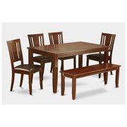 dudl6d mah lc 6 piece kitchen table with bench table and 4 chairs - Kitchen Bench With Table