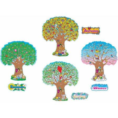"""Carson-Dellosa Four Seasons Trees Design Bulletin Board Set, 13"""" x 5"""""""