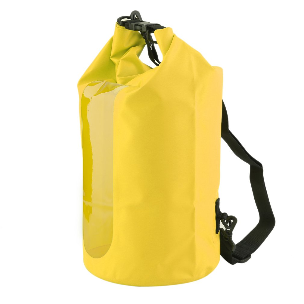 20L Waterproof Dry Bag Roll Top Survival Sack Kit Dry Gear Bag For Fishing Boating Hiking Camping Equipment(Yellow) by RANGE