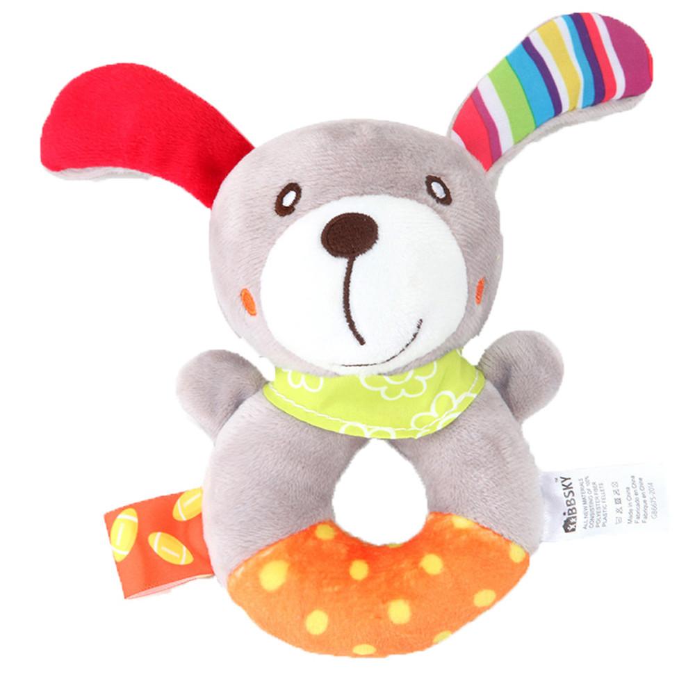 Animal Handbells Developmental Toy Bed Bells Kids Baby Soft Toys Rattle Lion