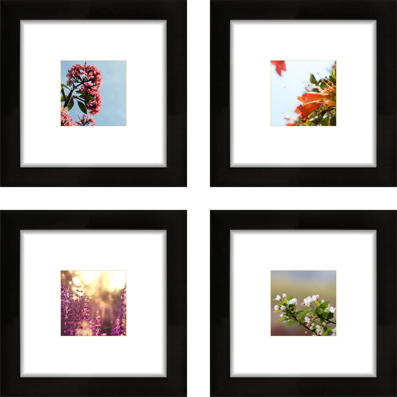 craig frames 8x8 black picture frame smartphone collection single white mat with 4x4 square opening set of 4 walmartcom