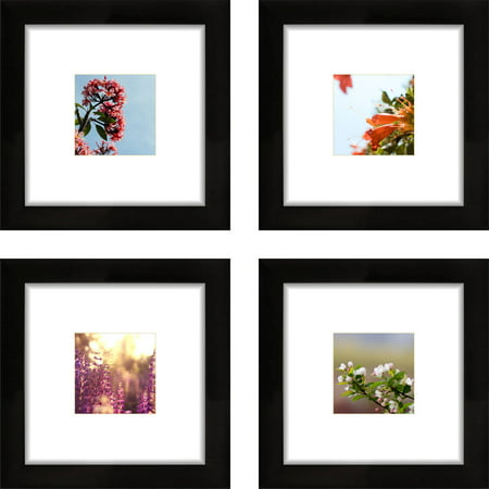 craig frames 8x8 black picture frame smartphone collection single white mat with 4x4 square