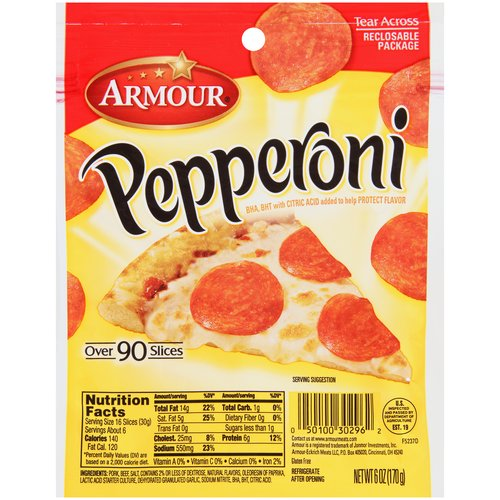 Armour Pepperoni, 6 oz