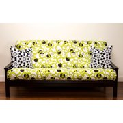 SIScovers Full Circle Green 7-inch Full-size Futon Cover
