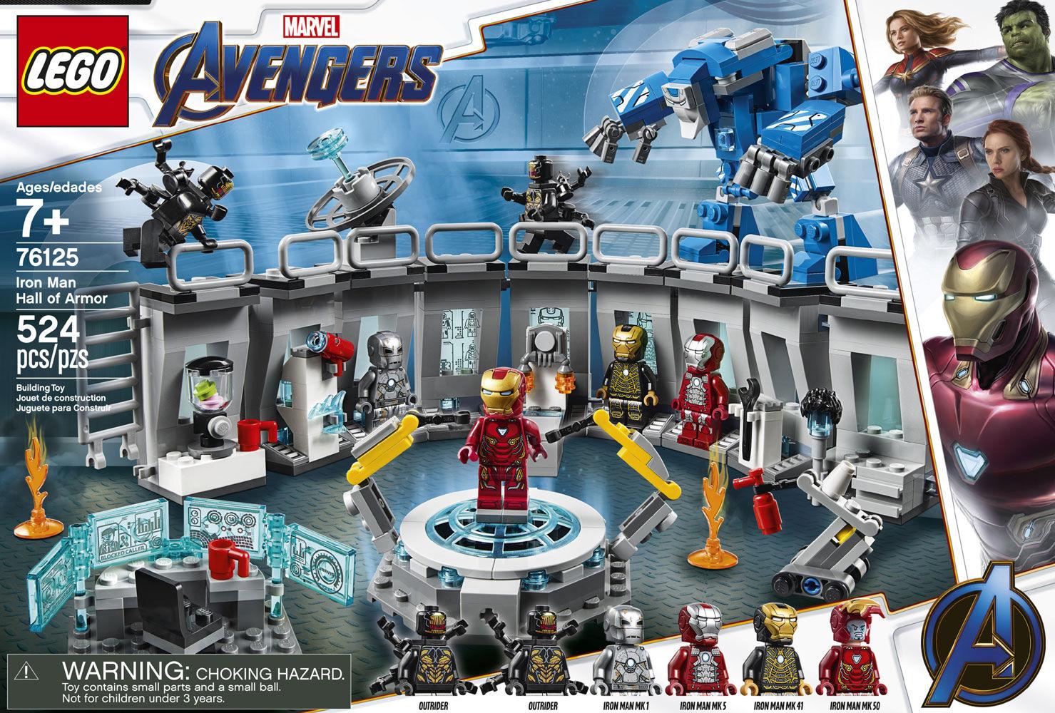 LEGO 76125 Marvel Avengers End Game Iron Man Hall of Armor 524 pcs NEW SEALED