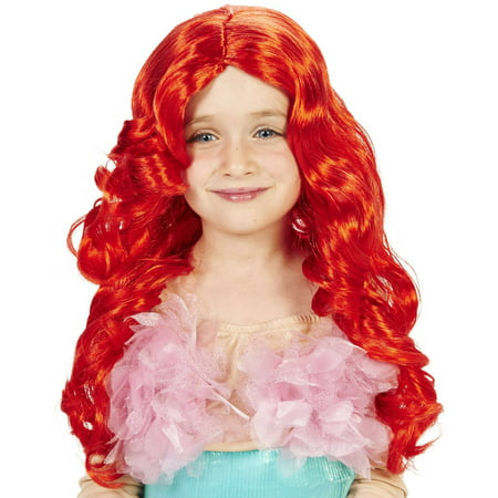 Red Sea Maid Child Wig Halloween - Red Wig Halloween