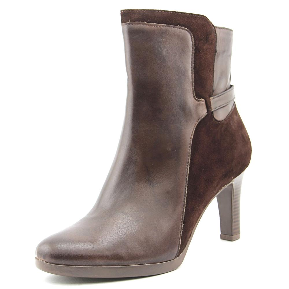 Naturalizer Allison Women W Round Toe Leather Brown Ankle Boot by Naturalizer