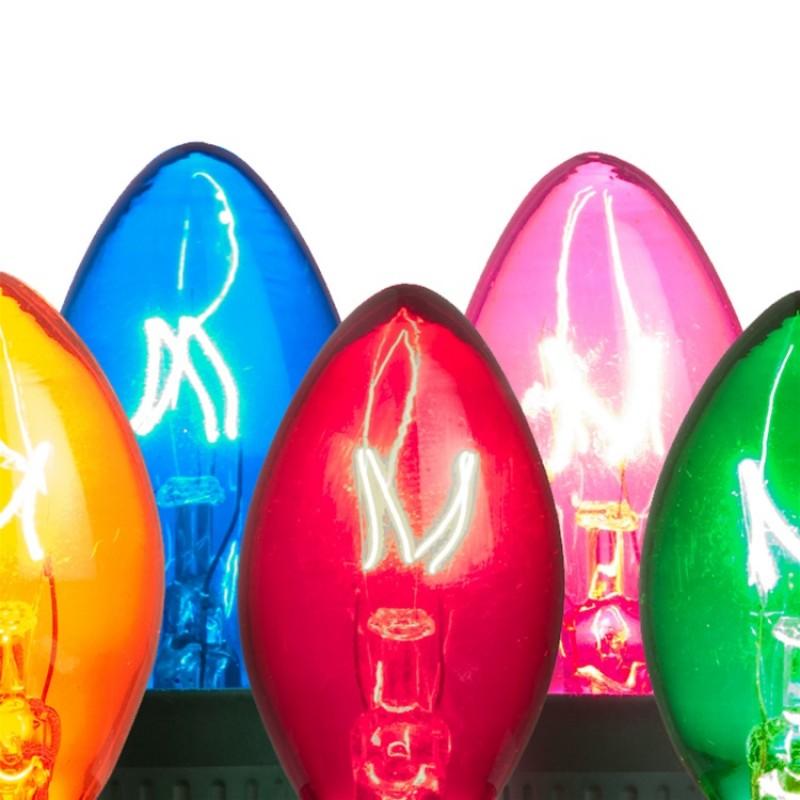 Twinkle Christmas Bulbs - C7 Size - Box Of 25 Bulbs