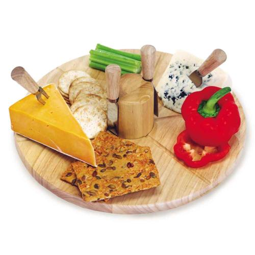 Salerno Cheese Board w 4 Knives