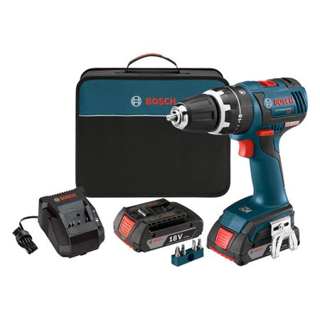 bosch hds182 02 18v cordless lithium ion 1 2 in brushless compact tough hammer drill driver kit. Black Bedroom Furniture Sets. Home Design Ideas