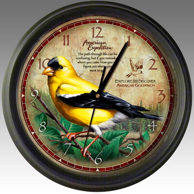 American Expedition Goldfinch 16 inch Wall Clock, WCLK-143