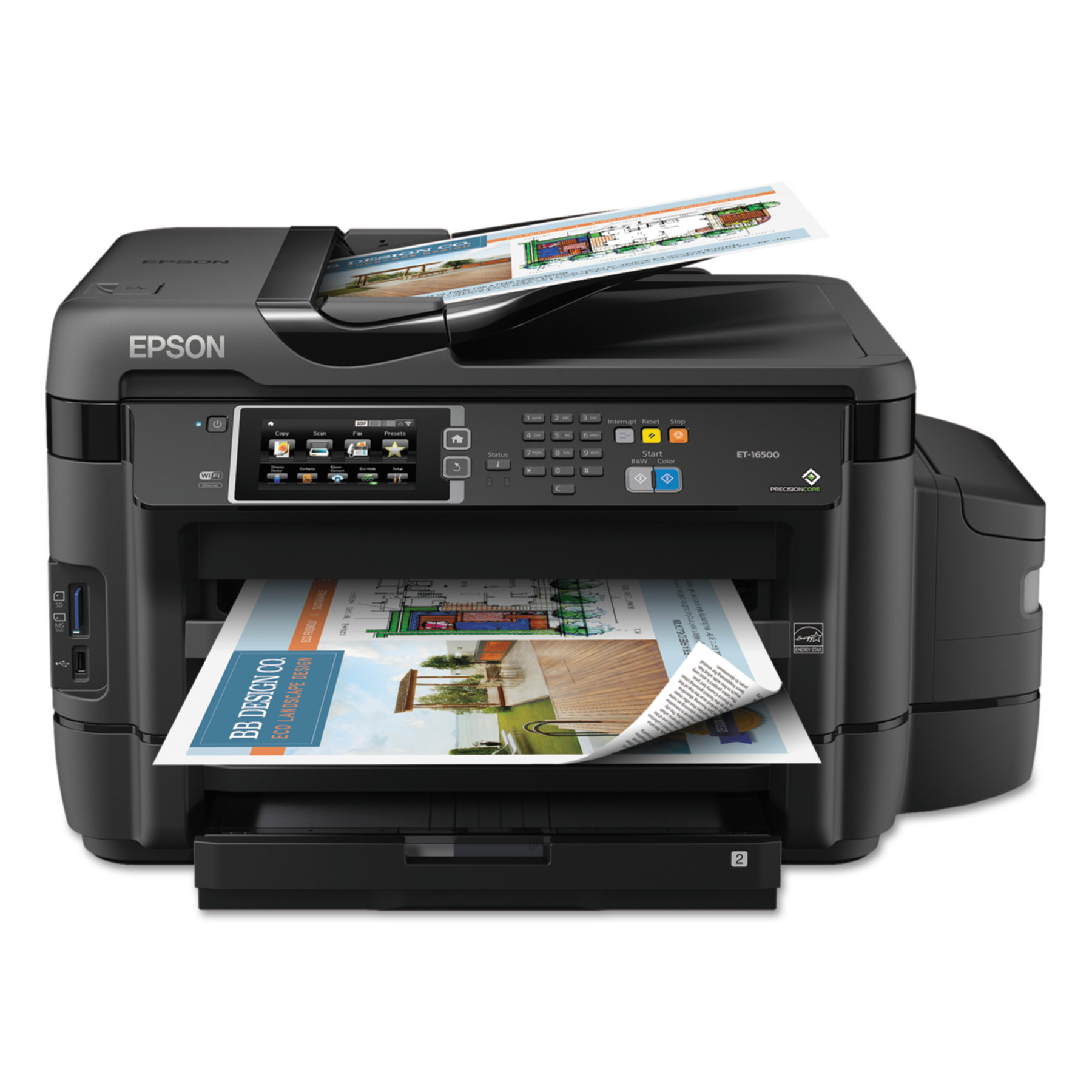 Epson WorkForce ET-16500 EcoTank Wide Format Wireless All-in-One Printer