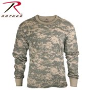 Mens Long Sleeve ACU Digital Camo T-Shirt