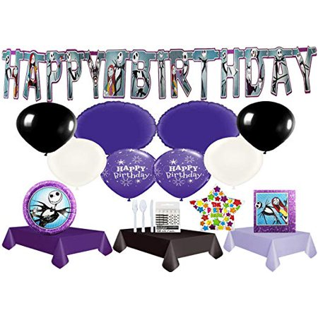 The Nightmare Before Christmas Ultimate Party Pack with Balloons](Nightmare Before Christmas Tablecloth)