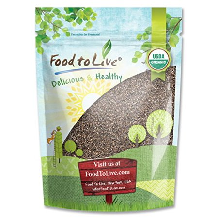 Food To Live   Certified Organic Chia Seeds  Raw  Black  Non Gmo  Bulk   5 Pounds