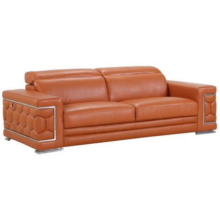 DivanItalia Ferrara Luxury Italian Leather Upholstered Living Room Sofa ()