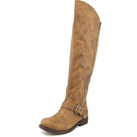 Carlos by Carlos Santana Gramercy Wide Calf Women Synthetic Brown Knee High Boot