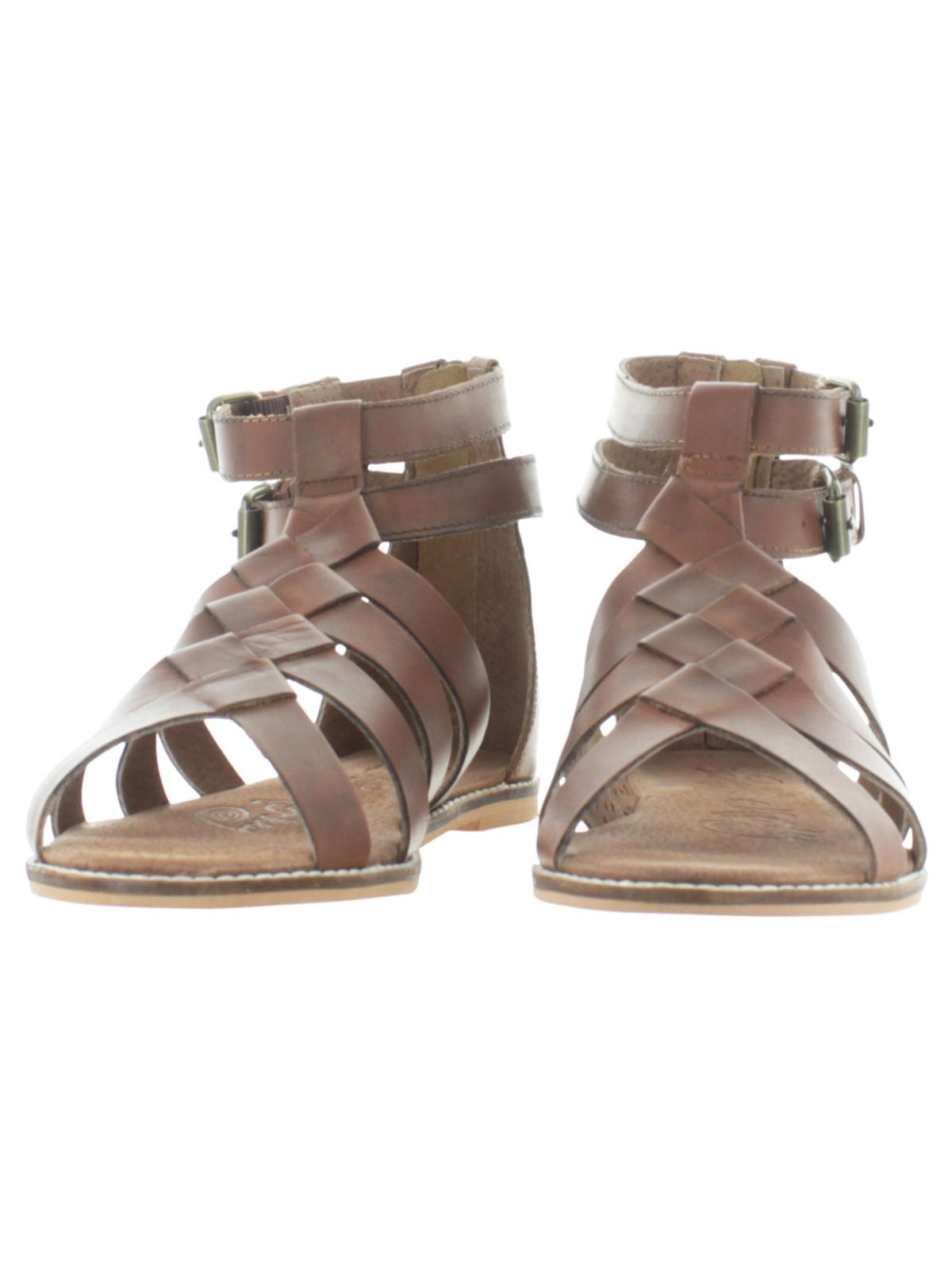 bc46df4c8b8 Naughty Monkey - Naughty Monkey Womens Cilani Leather Caged Gladiator  Sandals - Walmart.com