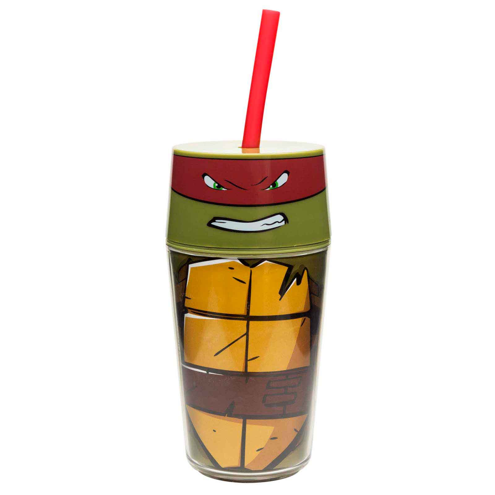Ninja Turtles Insulated Tumbler with Straw - Raphael