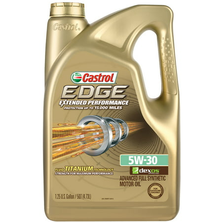 Castrol EDGE Extended Performance 5W-30 Full Synthetic Motor Oil, 5 QT