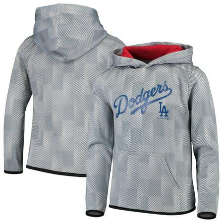 Los Angeles Dodgers Youth Polyester Fleece Sweatshirt - Gray - Gray Mlb Sweatshirt