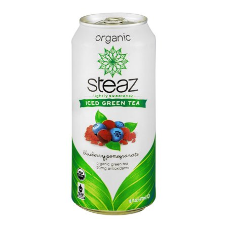 Steaz Iced Green Tea Organic Blueberry Pomegranate, 16.0 ...