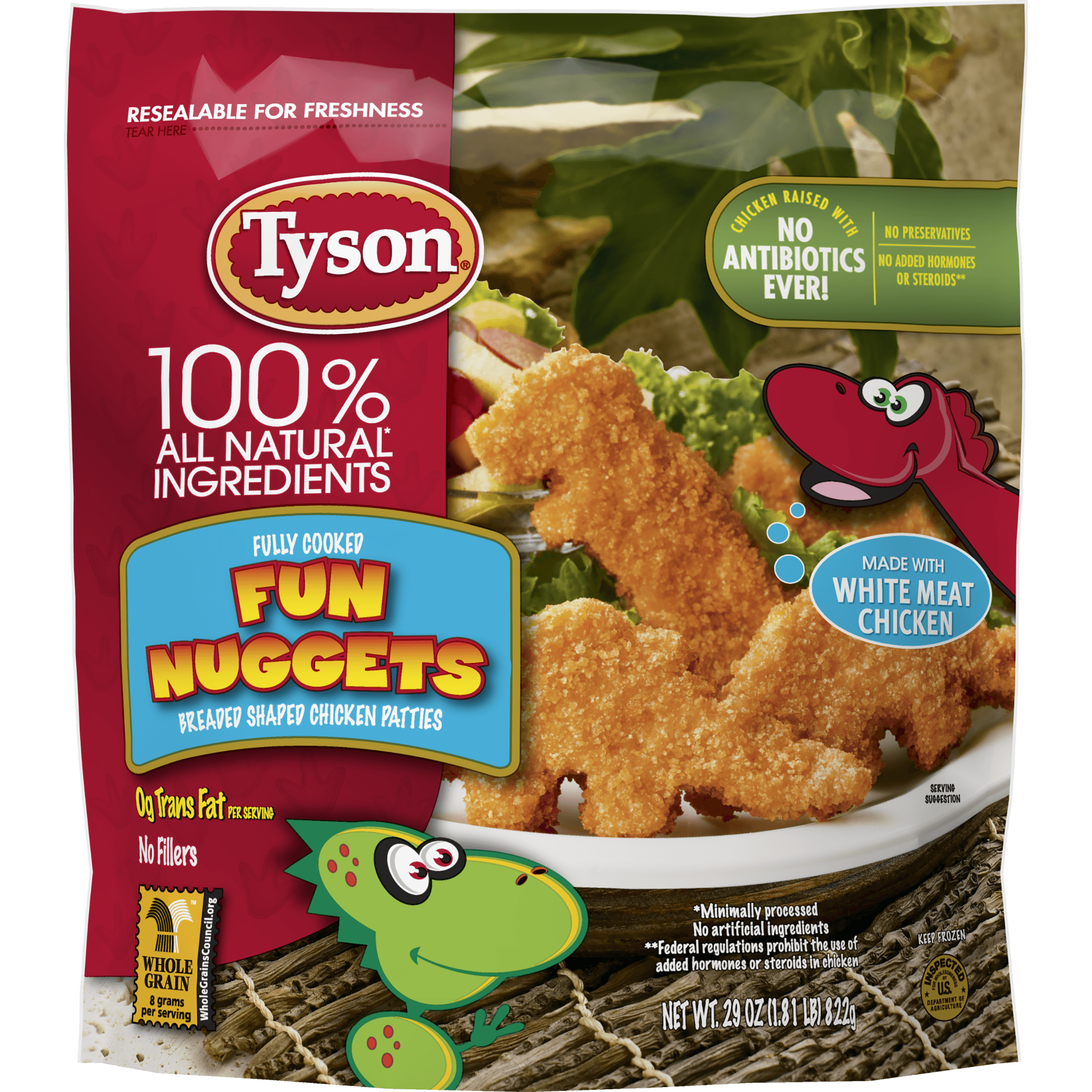 Tyson Dino Nuggets Nutrition Facts