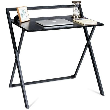 Folding Computer Desk Pc Laptop Table Study Workstation Wood