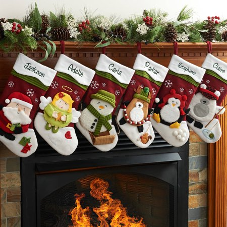 Heirloom Stocking - Personalized Winter Hat Christmas Stocking Available In Different Characters