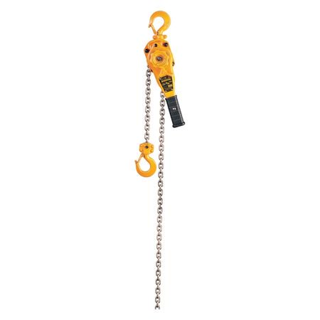 HARRINGTON LB008-15 Lever Chain Hoist, 1500 lb. Load Capacity, 15 ft. Hoist Lift