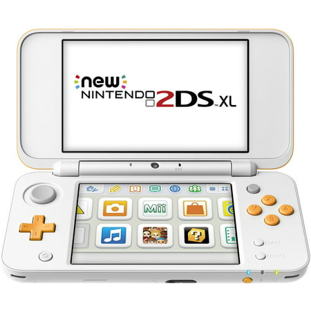 New Nintendo 2DS XL Portable Gaming Console, White & Orange