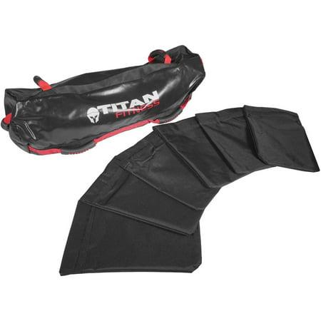 Titan Fitness 60 lb Heavy Duty Workout Weight Sandbag Exercise Training Bag 60 Lb Bag Concrete