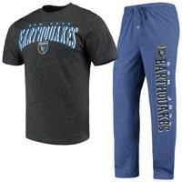 San Jose Earthquakes Concepts Sport Spar Pants & Top Sleep Set - Royal/Charcoal