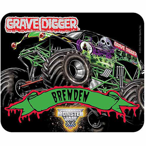Personalized Monster Jam Grave Digger Mouse Pad