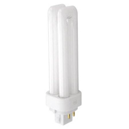 TCP 32413Q35K Single 13 Watt Frosted PL13 Quad 4 Pin Compact Fluorescent Bulb - 3500K
