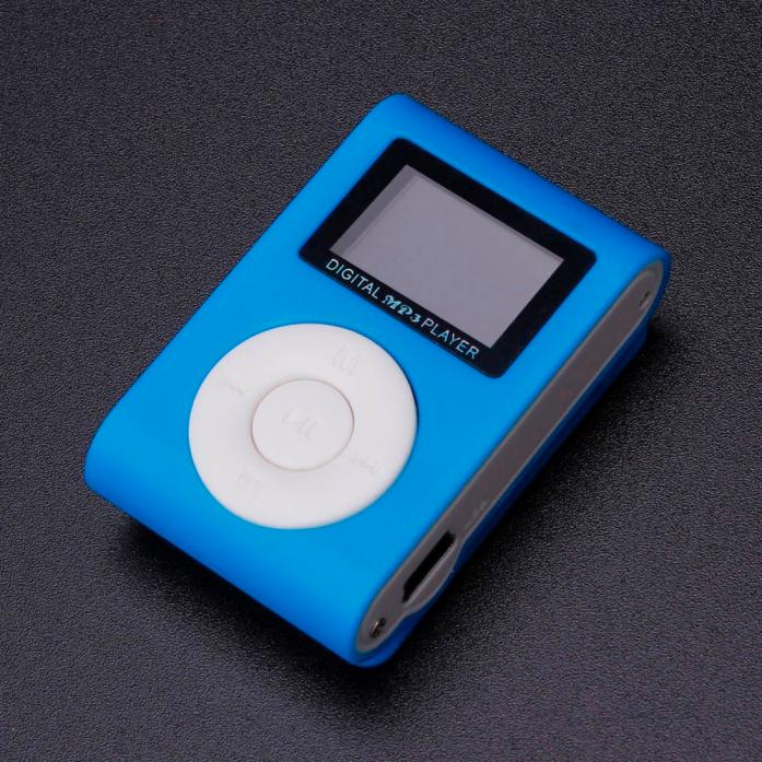Tuscom Mini USB Clip MP3 Player LCD Screen Support 32GB Micro SD TF Card BU