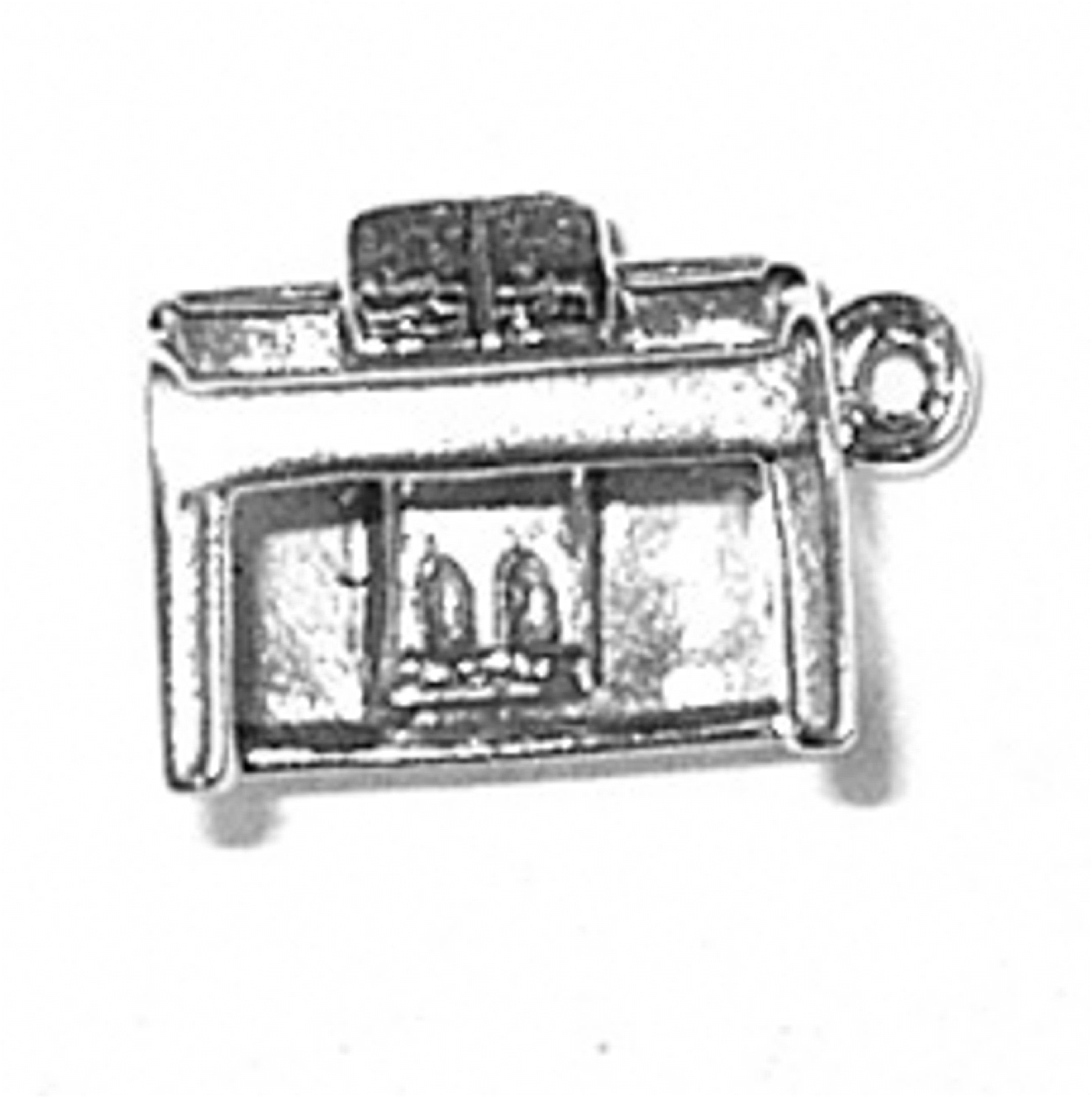 Grand Piano Charm Sterling Silver Pendant 3d Top Opens Music Instrument