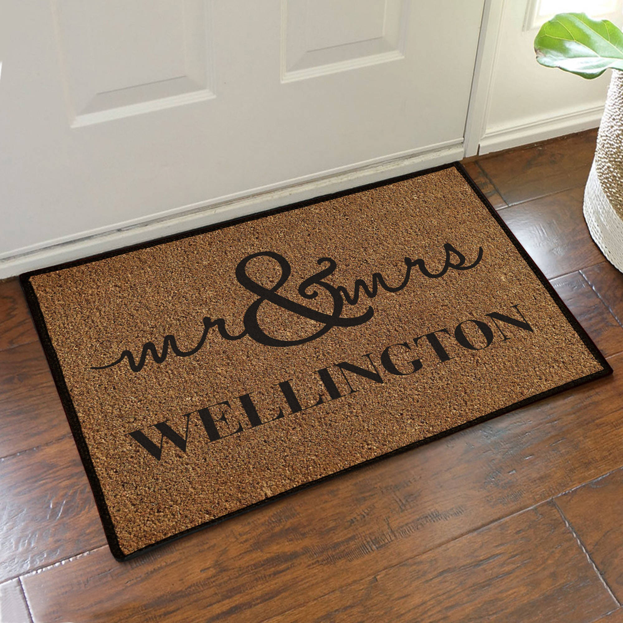 "Personalized Couples Doormat, 19.5"" x 15.5"""