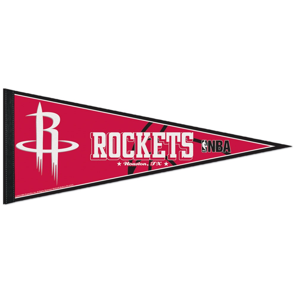 Houston Rockets Official NBA 12 inch x 30 inch  Felt Pennant by WinCraft