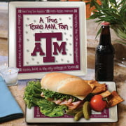 Texas A&M True Fan Square Plate