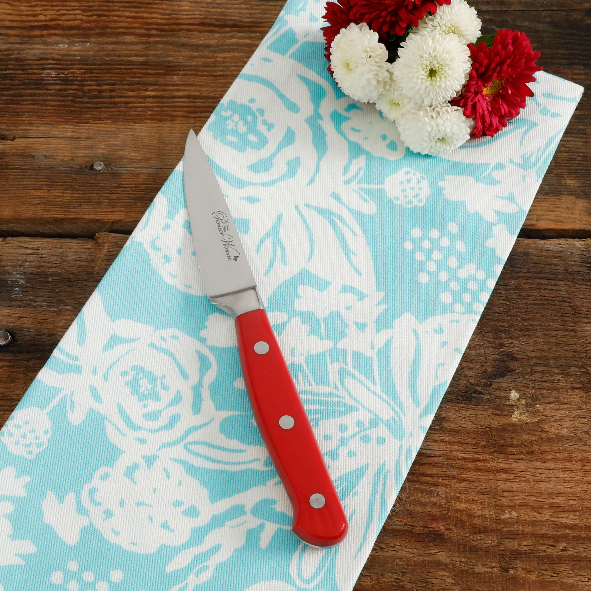 The Pioneer Woman Frontier Collection Red 3.5-Inch Paring Knife