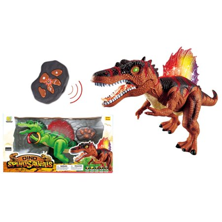 Remote Control RC Dinosaur Spinosaurus Electronic Toy Walking & Moving (Color May Vary)